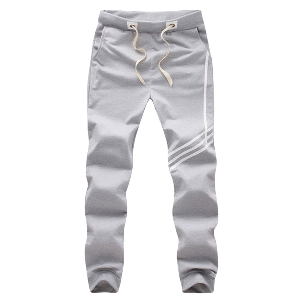 Twill Design Elastic Band Sports Ankle Banded Casual Pants for Men