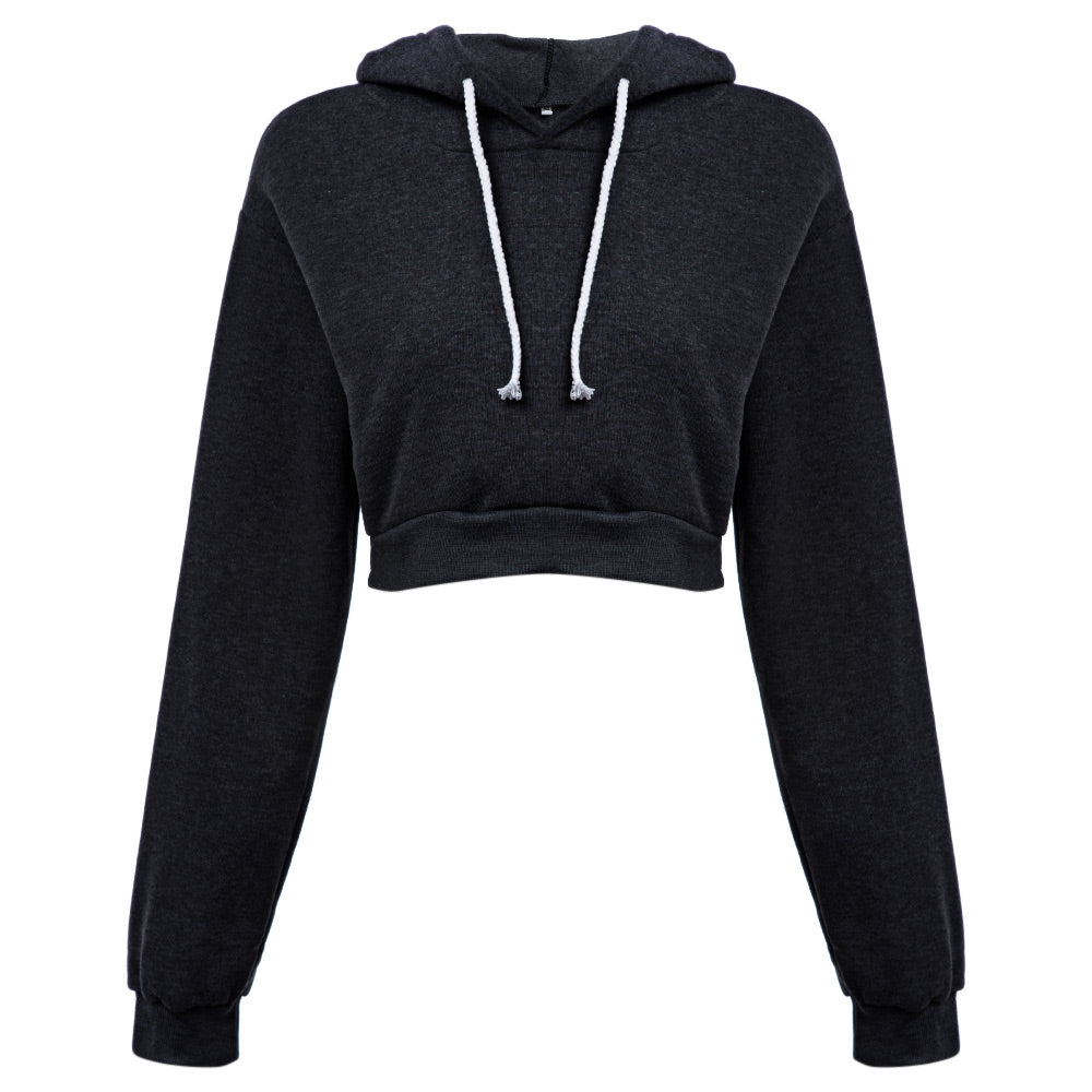 Casual Hooded Pure Color Hoodie for Women 2543
