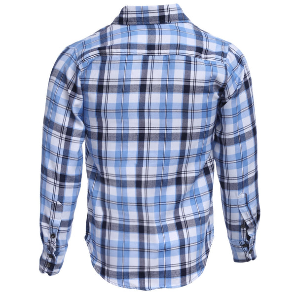 Casual Grid Design Slim Fit Male Long Sleeve Shirt 7568