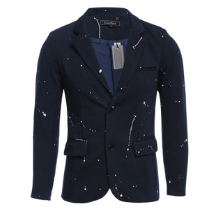 Turn-down Collar Spot Two Button Single-breasted Man Blazer 5476