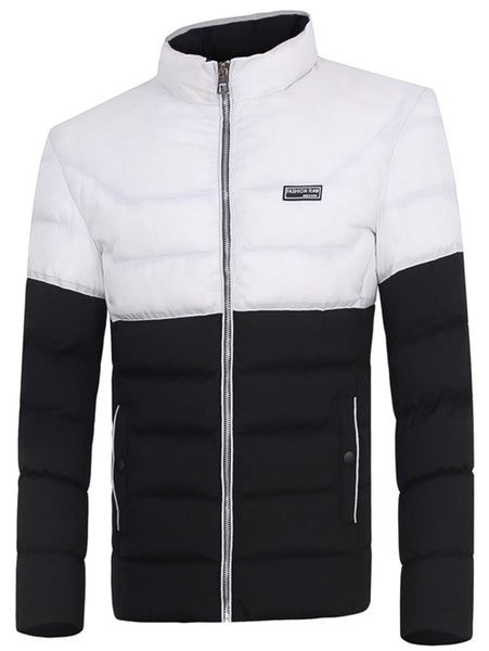 Zip Up Two Tone Padded Jacket 1491