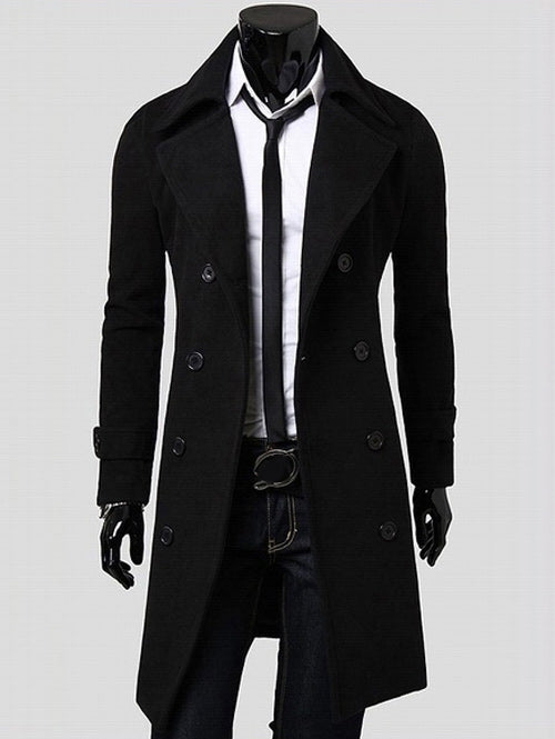 Double Breasted Overcoat with Side Pockets 9007