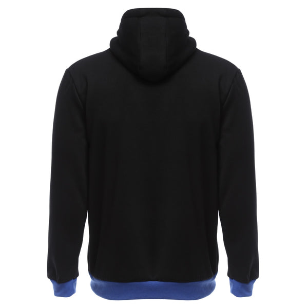 Casual Fleece Color Block Zipper Decoration Male Hoodies 3086