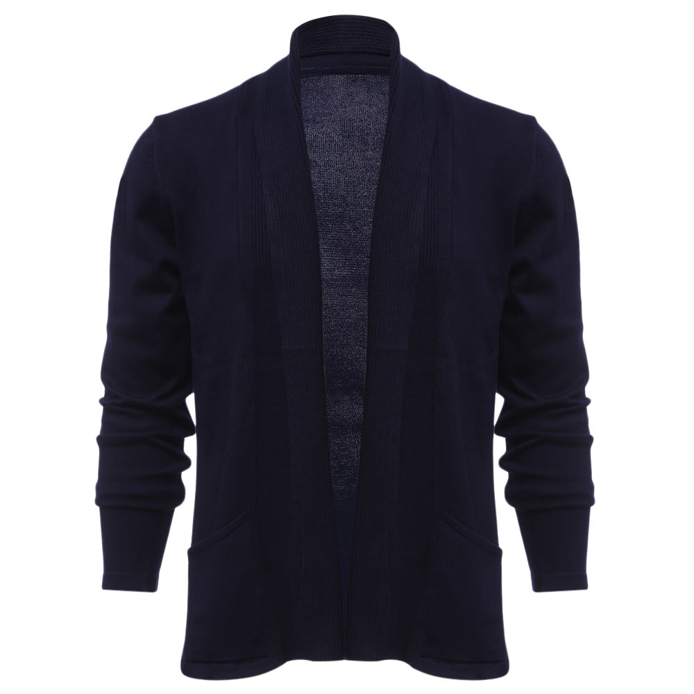 Men's Casual Solid Color Long Sleeved Slim Fit Knitwear