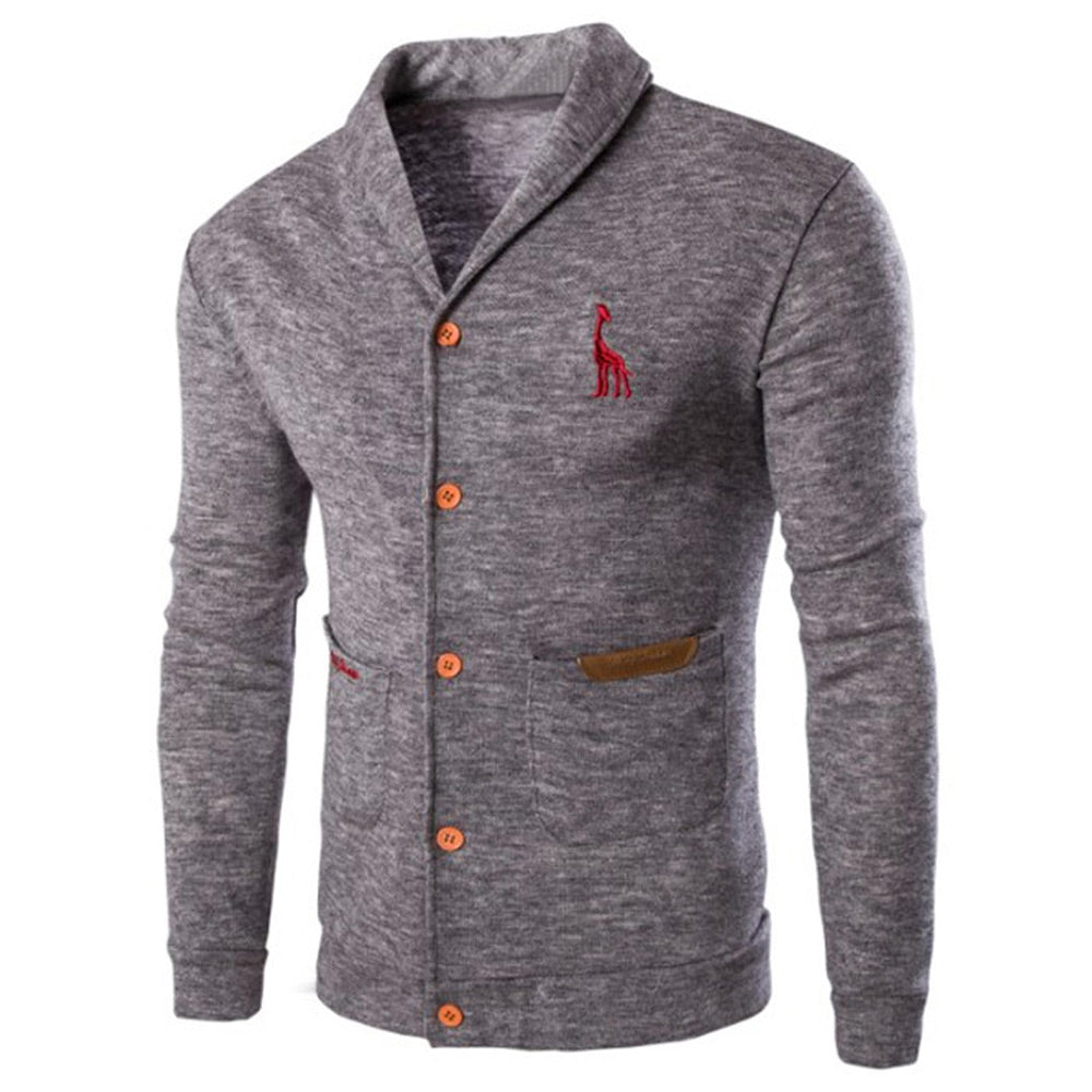 Casual Lapel Man Cardigan 6533