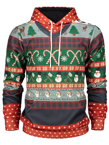 Christmas Printed Hoody Sweatershirt for Men 7147
