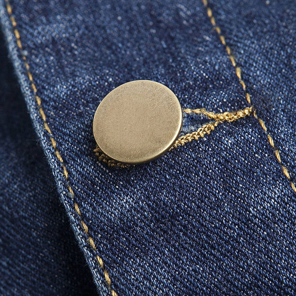 Pockets Embellished Turn-Down Collar Denim Jecket 9191