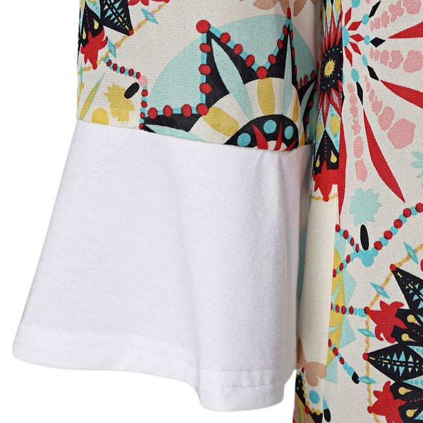 Flare Sleeve Graphic Longline T-Shirt 2032