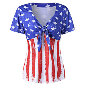 Plus Size Empire Waist American Flag T-Shirt 5997