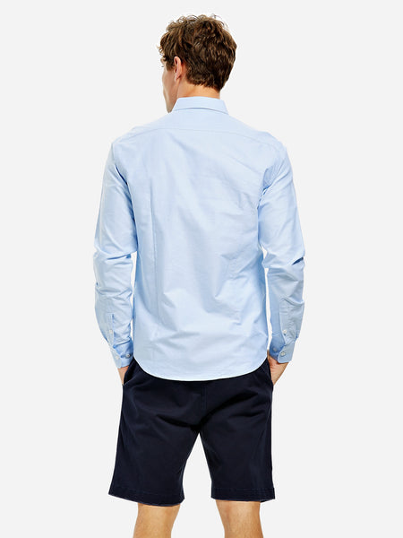 Long Sleeve Oxford Cotton Man Shirt Business 1147