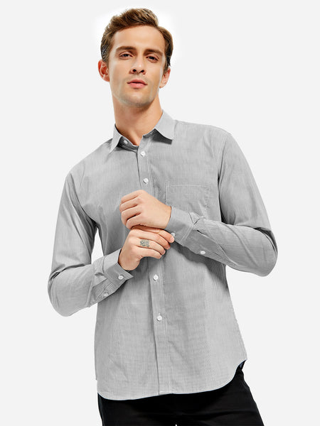 100% Cotton Turn Down Collar Dress Shirt for Man 6243