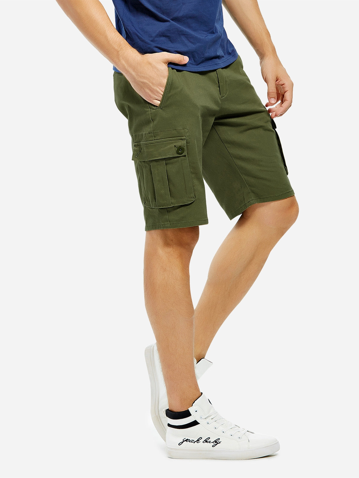 Casual Knee Length Cargo Men Shorts Pants 3587