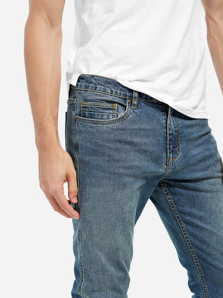 Mid Rise Long Pants Skinny Jeans for Men 9990