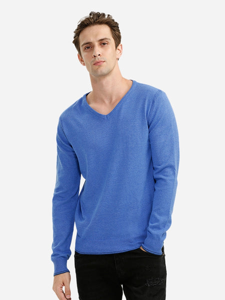 V-neck Cotton Blend Knitwear 3919