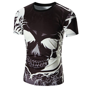 Slim Fit Devil Printing Men T Shirt Top 1943