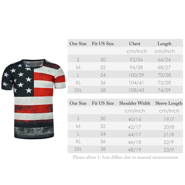 Slim Fit Star Printing Men Short Sleeve T-Shirt 5496