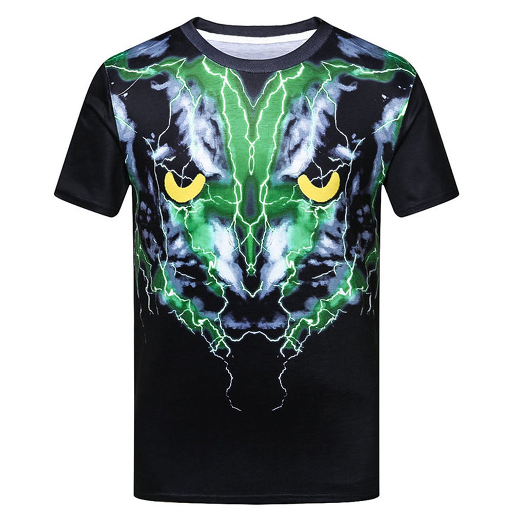 Streetwear 3D Printed Slim Fit Men Short Sleeve T Shirt 2733