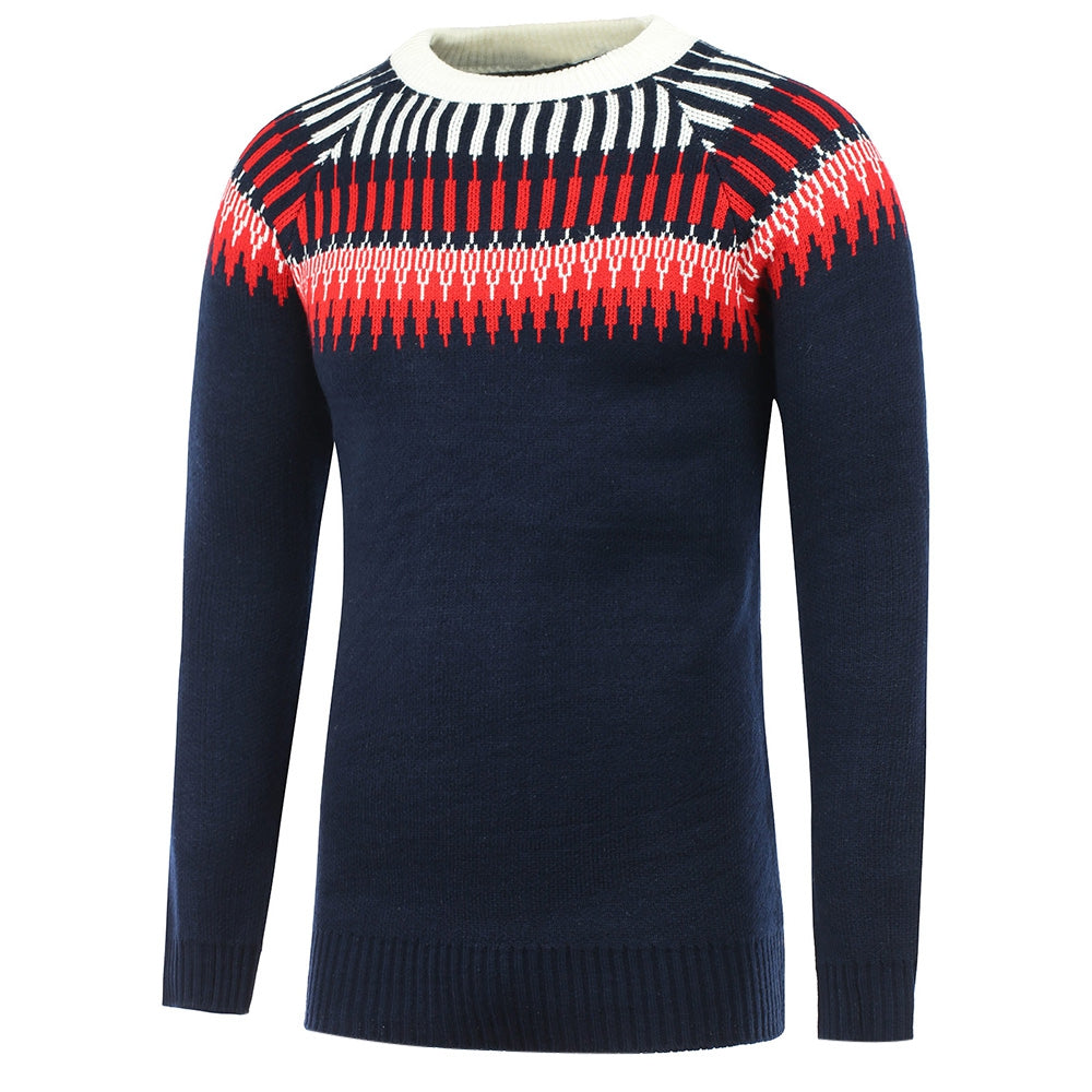 Graphic Printed Long Sleeve Men Sweater 6185