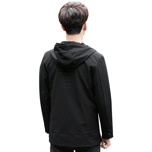 Casual Zip Hoody Windbreaker Coat Jacket for Men 4051