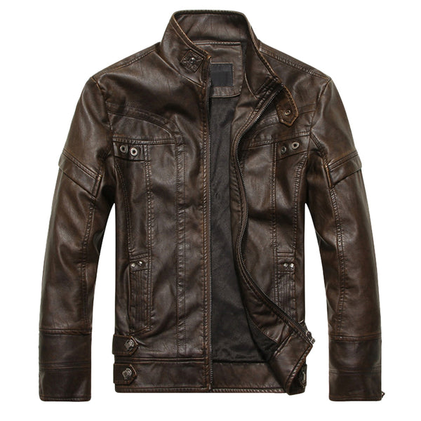Winer Faux Suede Leather Men Coat Fleece Jacket 6098