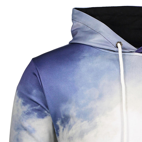 Casual 3D Printed Kangaroo Hooded Pullover with Pocket for Men 3642