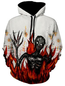 Skull Devil Printing Halloween Man Hooded 3974