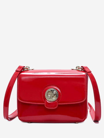 Portable Mini Patent Leather Shoulder Bags for Women 3036