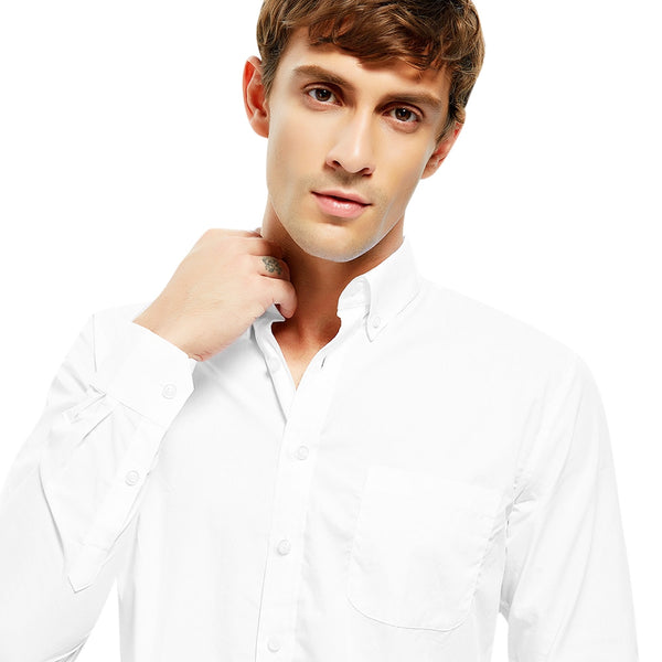 100 Percent Cotton Men Shirt in White 6873