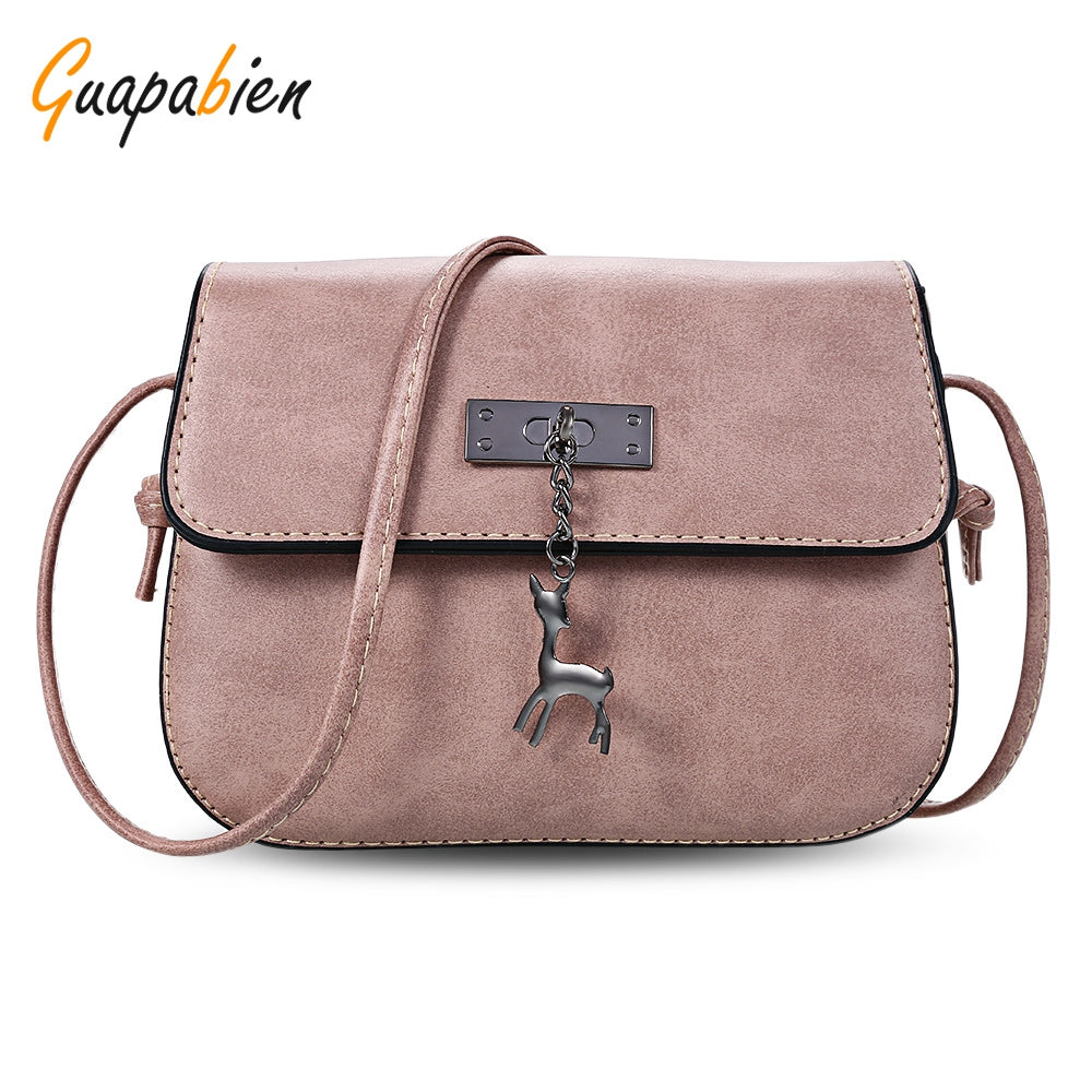 Cute Small Deer Pu Leather Shoulder Bags for Women 9008