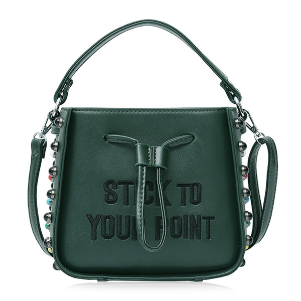 Rivet Handbags Drawstring Shoulder Bags for Women 8985
