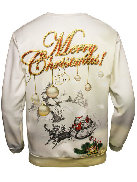 Cotton Long Sleeve Pullover Sweatershirt Christmas 1596