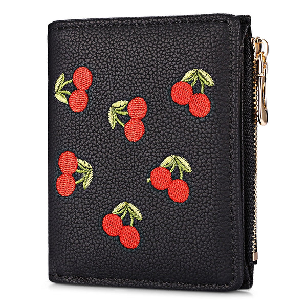 Preppy Zip Printed Card Holder Wallet for Women 7474