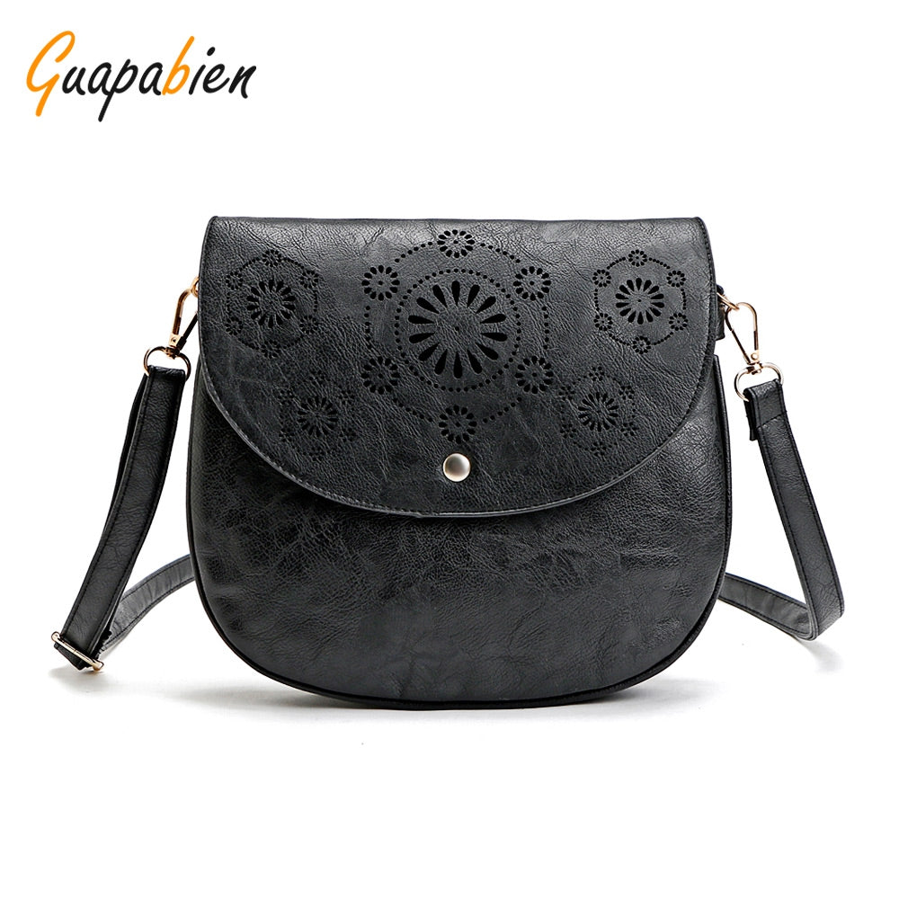 Retro Pu Leather Cutout Shoulder Bags for Women 7949