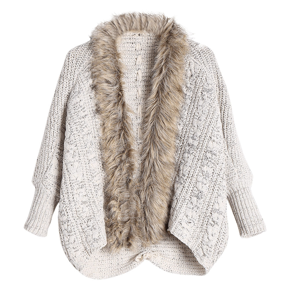 Faux Fur Sweater Cardigans for Women 1432