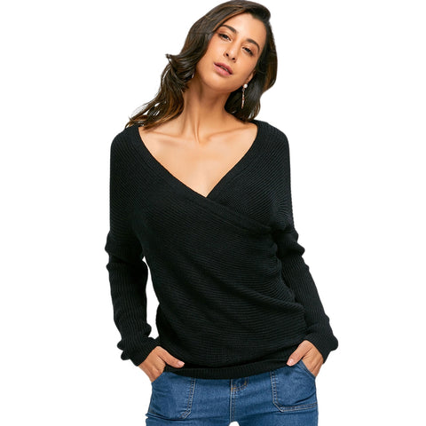 Long Sleeve 3 Colors Woman Sweaters Pullover 8725