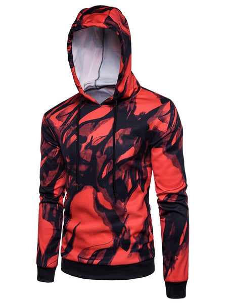 Hooded 3D Ink Wash Painting Pullover Hoodie 2768