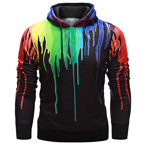 Trendy Hooded Long Sleeve Print Pullover Men Hoodie 9901