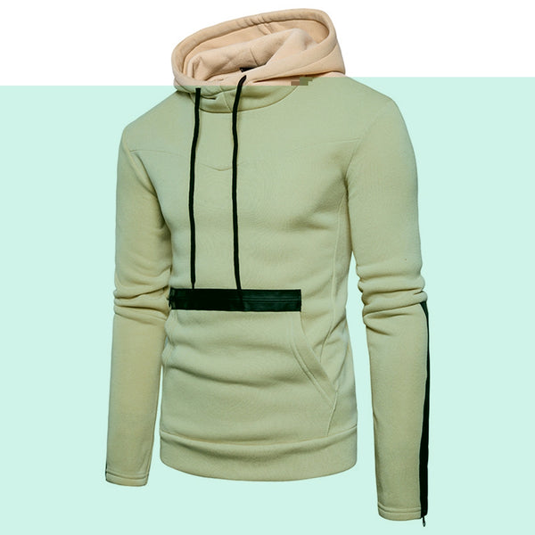 Edging Zipper Fleece Pullover Hoodie 2934