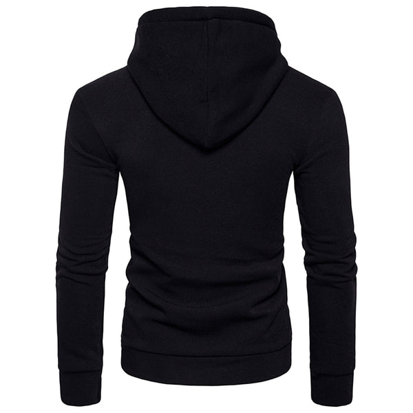 Hooded Half Zip Pouch Pocket Fleece Pullover Hoodie 7165