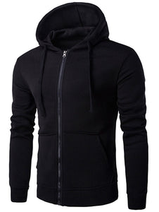 Kangaroo Pocket Full Zip Flocking Hoodie 8381
