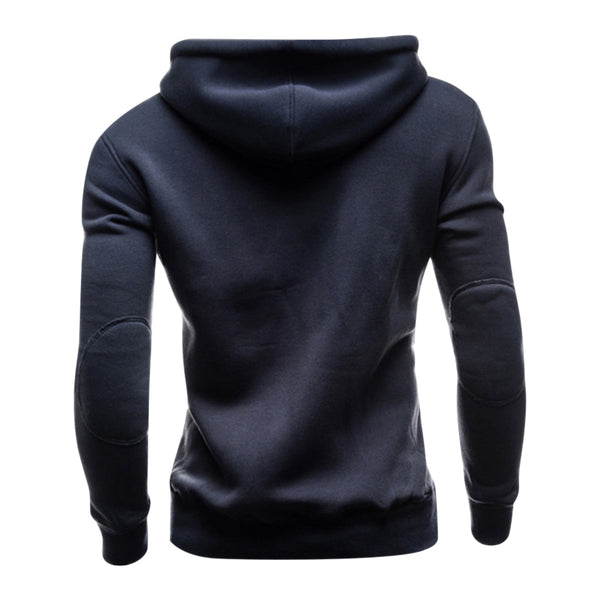 Hooded Buttons Pocket Fleece Pullover Hoodie 4010