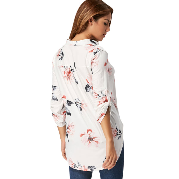 V Neck Floral Blouse 8684