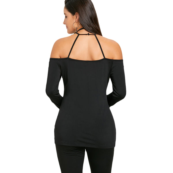 Open Shoulder Strappy Top 6927