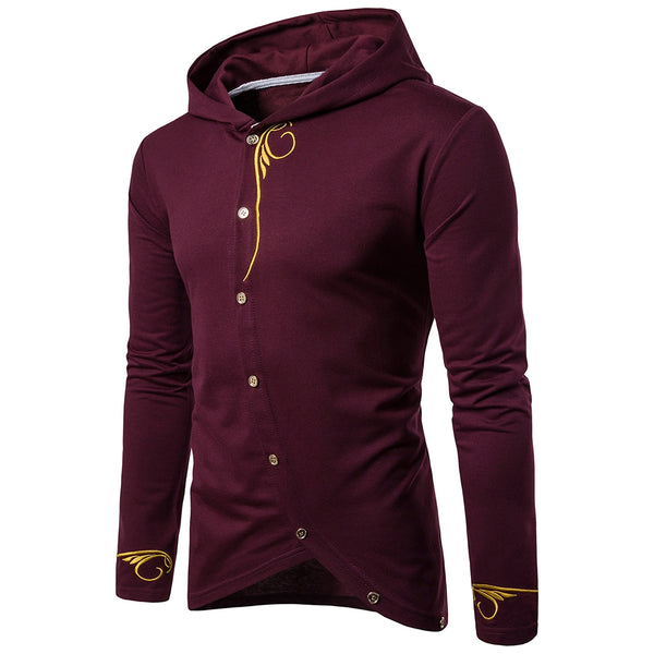 Vintage Embroidered T-shirt Hoody for Men 3835