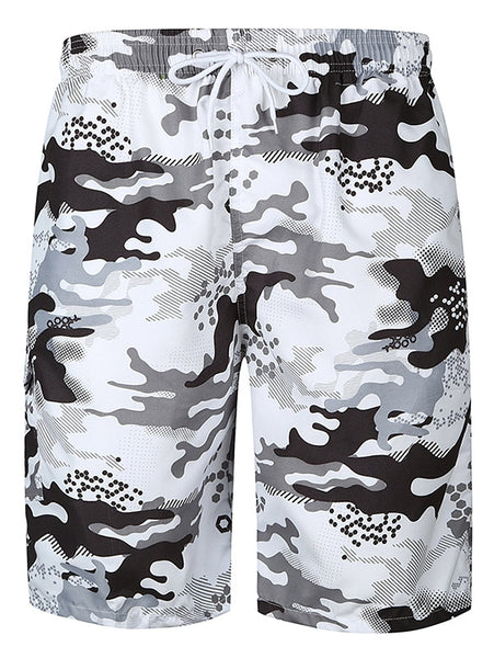 Men's Flap Print Camouflage Pocket Hawaiian Bermuda Shorts