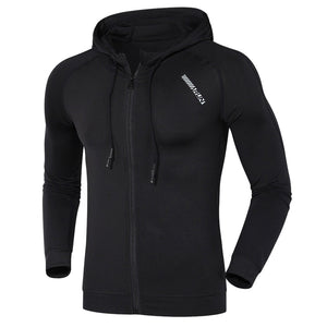 Men's Hooded Long Sleeves Quick-dry Close-fitting Sports Hoodie