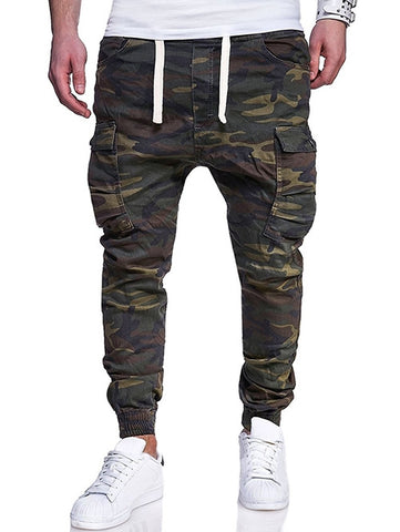Men's Multi-pocket Camouflage Printing Elastic Waist Jogger Pants
