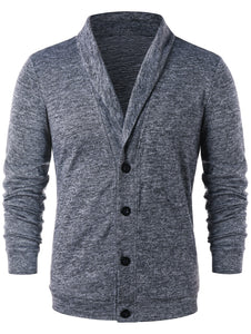 Men's Button Up Turn Down Collar Cardigan