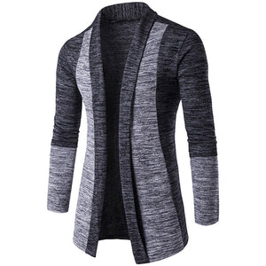 Men's Long Sleeve Sweater Lapel  Cardigan