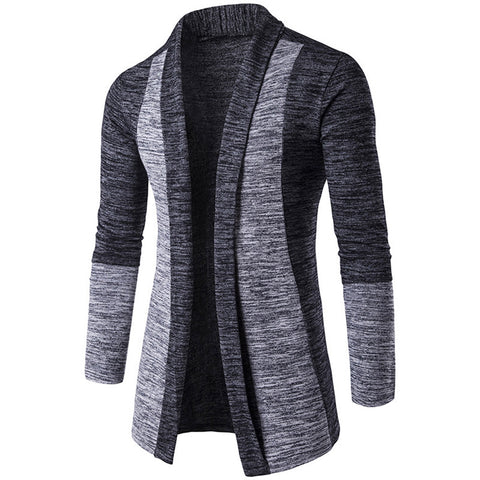 Men's Lapel Long Sleeves Sweater Cardigan